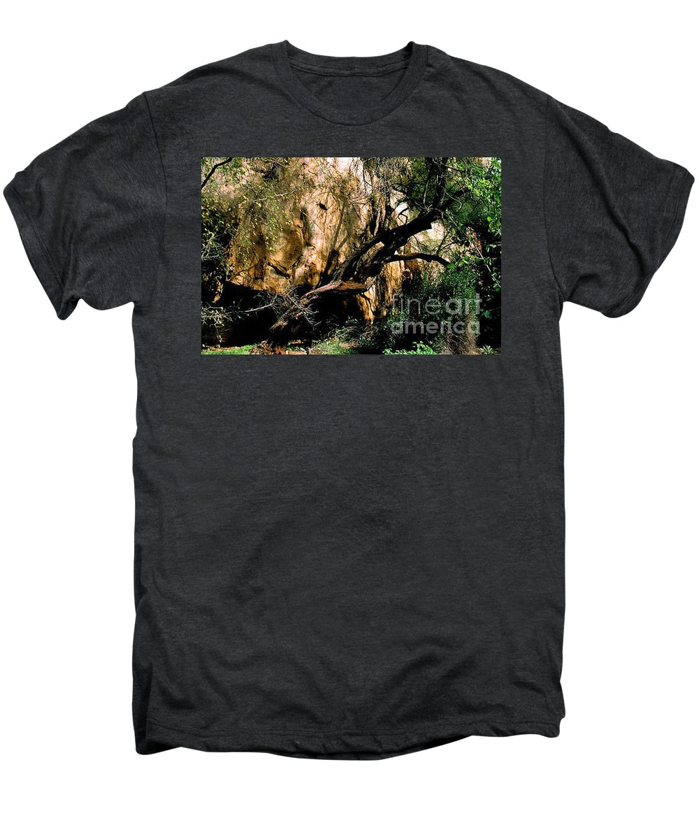 Trees Men's Premium T-Shirt featuring the photograph Old Tree by Kathy McClure