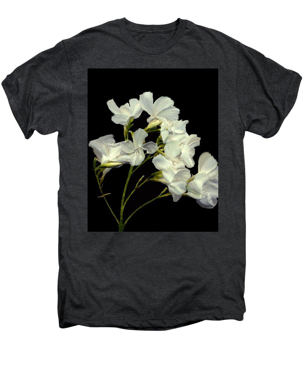 Flowers Men's Premium T-Shirt featuring the photograph Oleander by Kurt Van Wagner