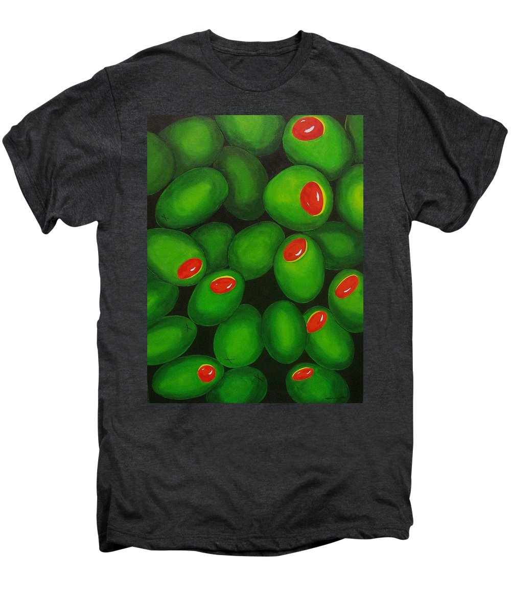 Olive Men's Premium T-Shirt featuring the painting Olives by Micah Guenther