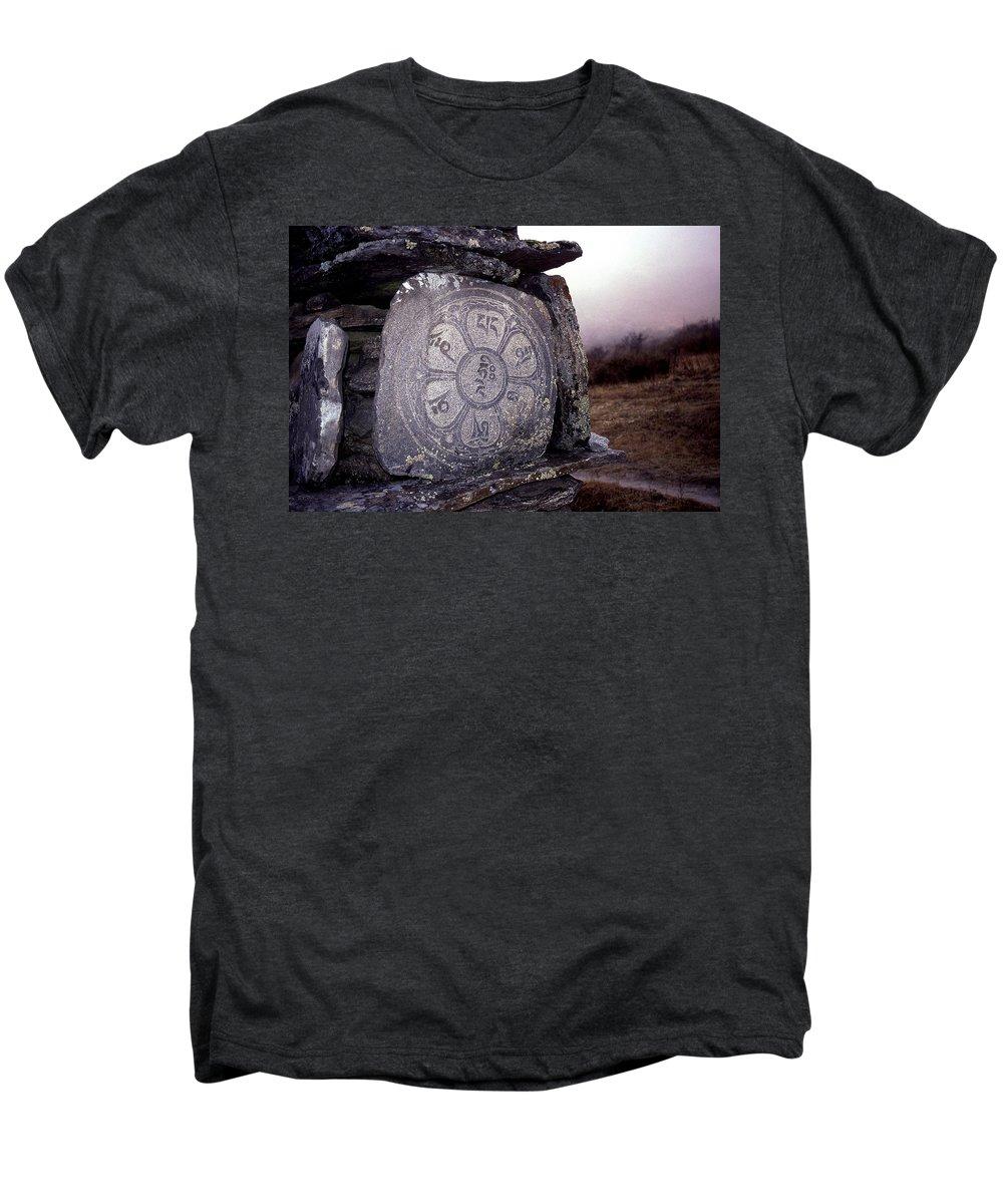 Langtang Men's Premium T-Shirt featuring the photograph Om Mani Padme Hum by Patrick Klauss