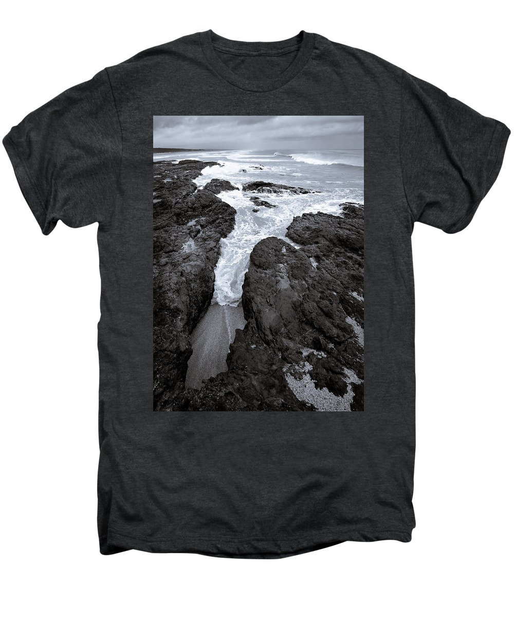 New Zealand Men's Premium T-Shirt featuring the photograph On The Rocks by Dave Bowman