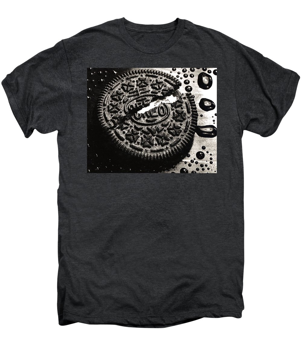Cookie Men's Premium T-Shirt featuring the photograph Oreo Cookie by Nancy Mueller