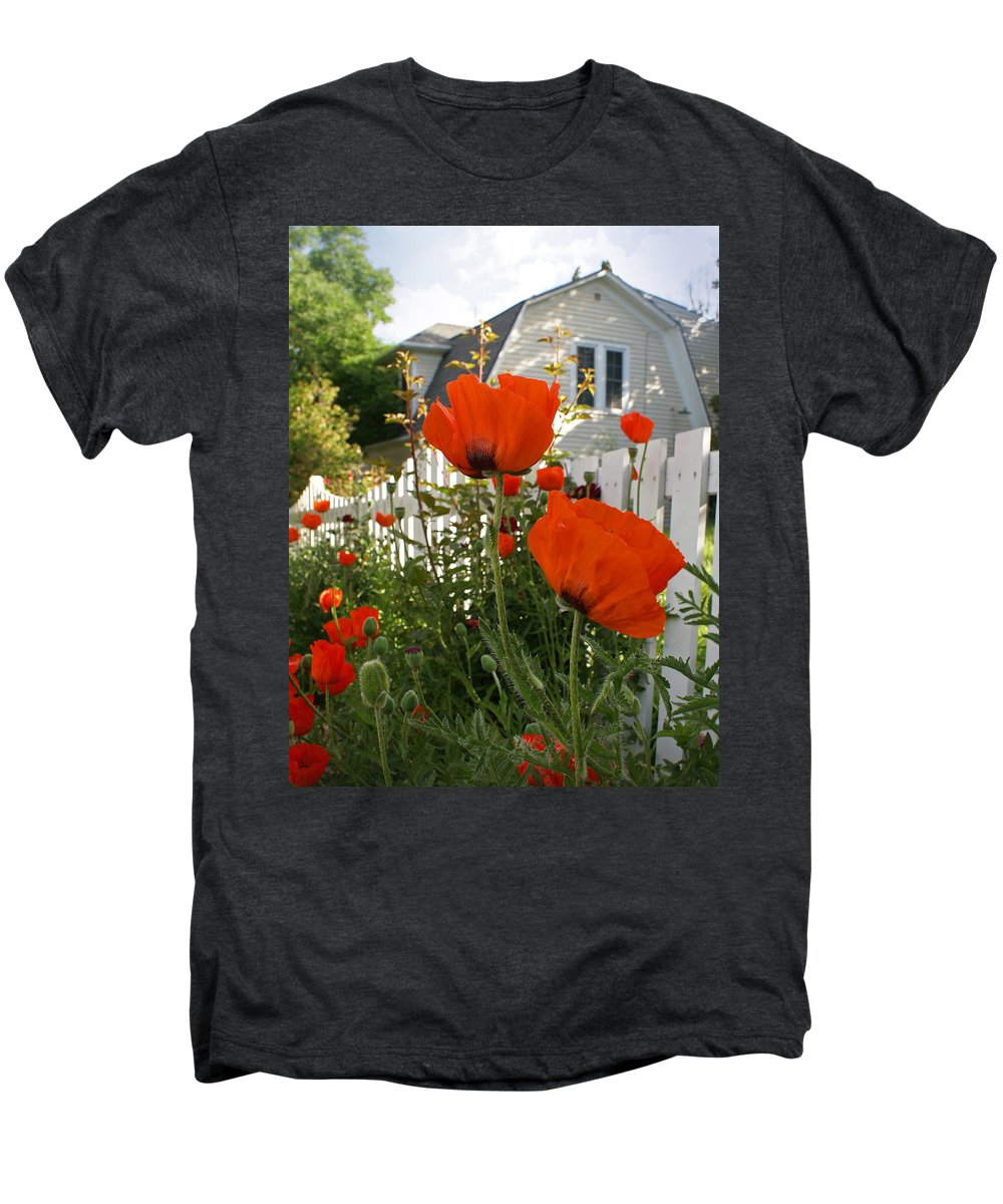 Poppies Men's Premium T-Shirt featuring the photograph Oriental Poppies by Heather Coen