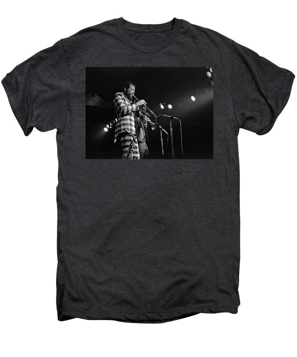 Ornette Colman Men's Premium T-Shirt featuring the photograph Ornette Coleman On Trumpet by Lee Santa