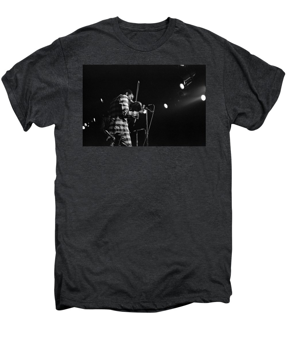Ornette Coleman Men's Premium T-Shirt featuring the photograph Ornette Coleman On Violin by Lee Santa
