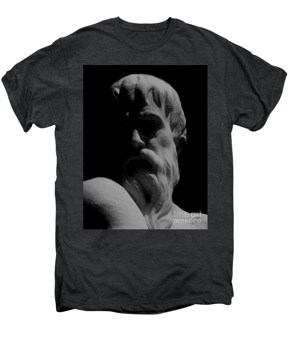 Black And White Men's Premium T-Shirt featuring the photograph Orpheus Looks Back by RC DeWinter