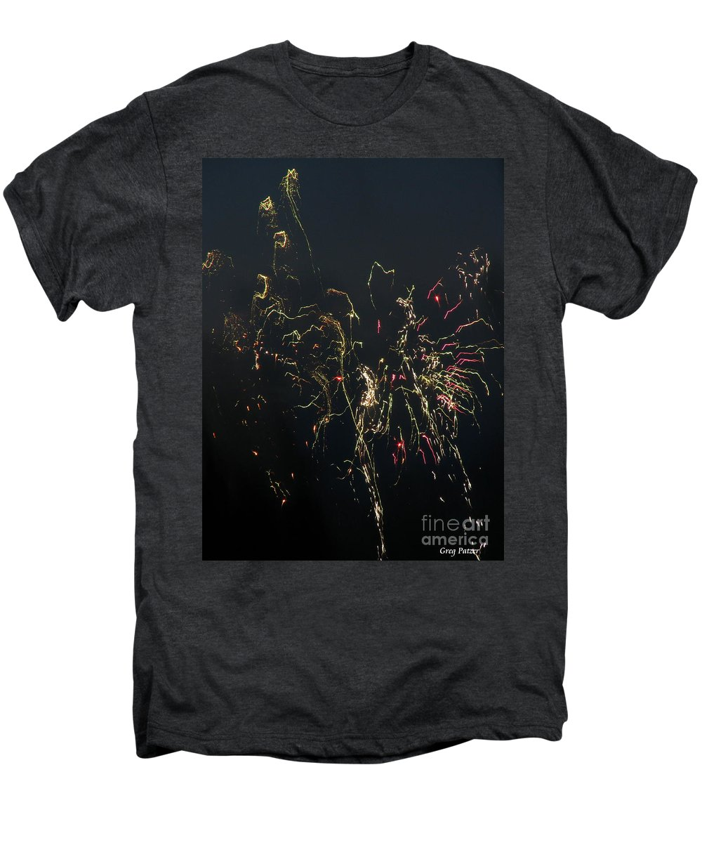 Patzer Men's Premium T-Shirt featuring the photograph Over Fort Lee by Greg Patzer