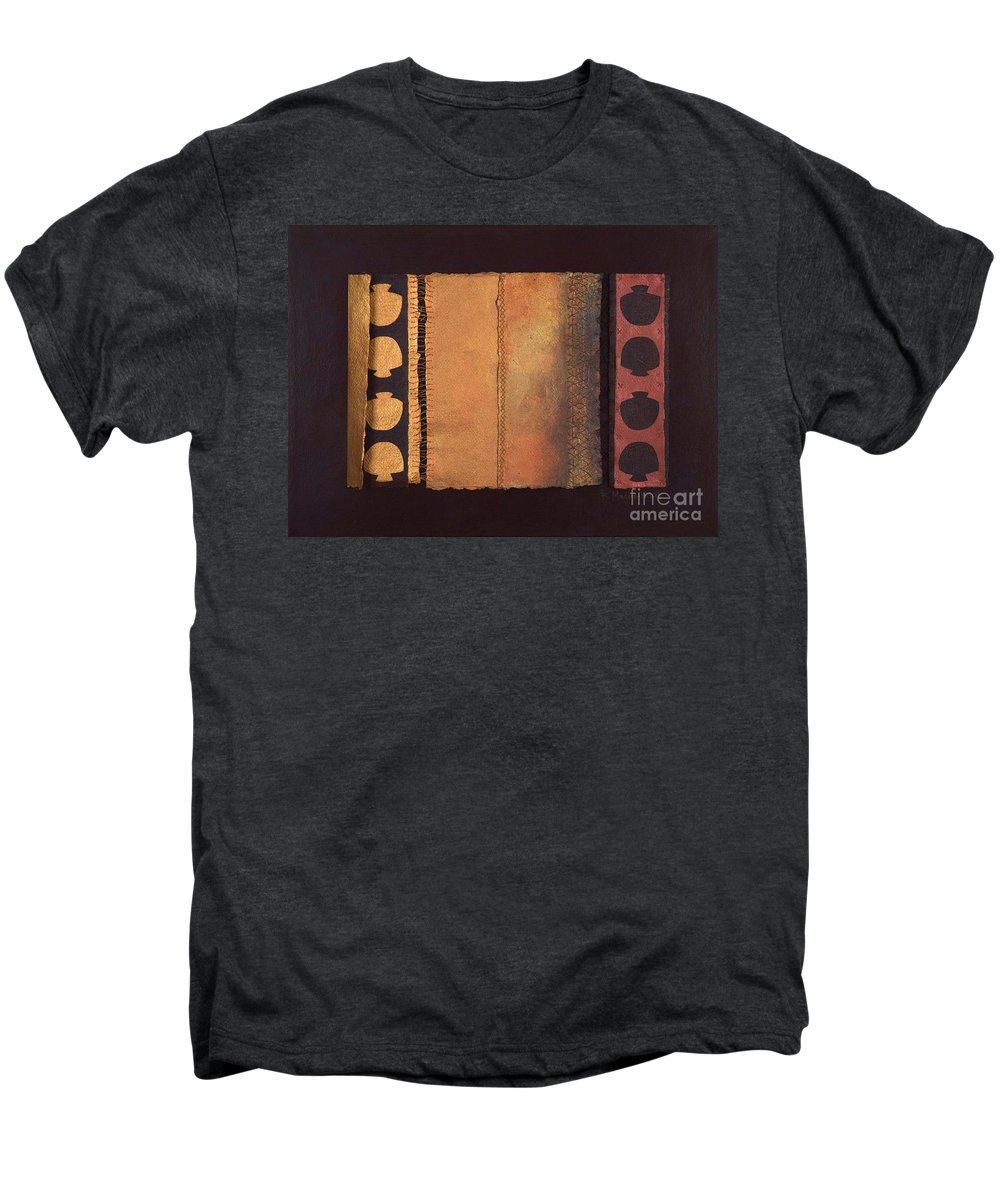 Artistbook Men's Premium T-Shirt featuring the painting Page Format No.4 Tansitional Series by Kerryn Madsen-Pietsch