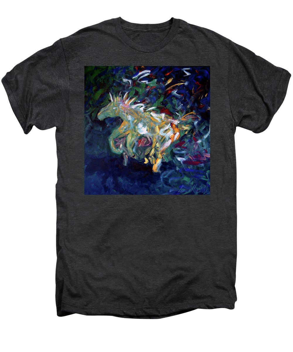 Abstract Horse Men's Premium T-Shirt featuring the painting Painted Pony by Lance Headlee