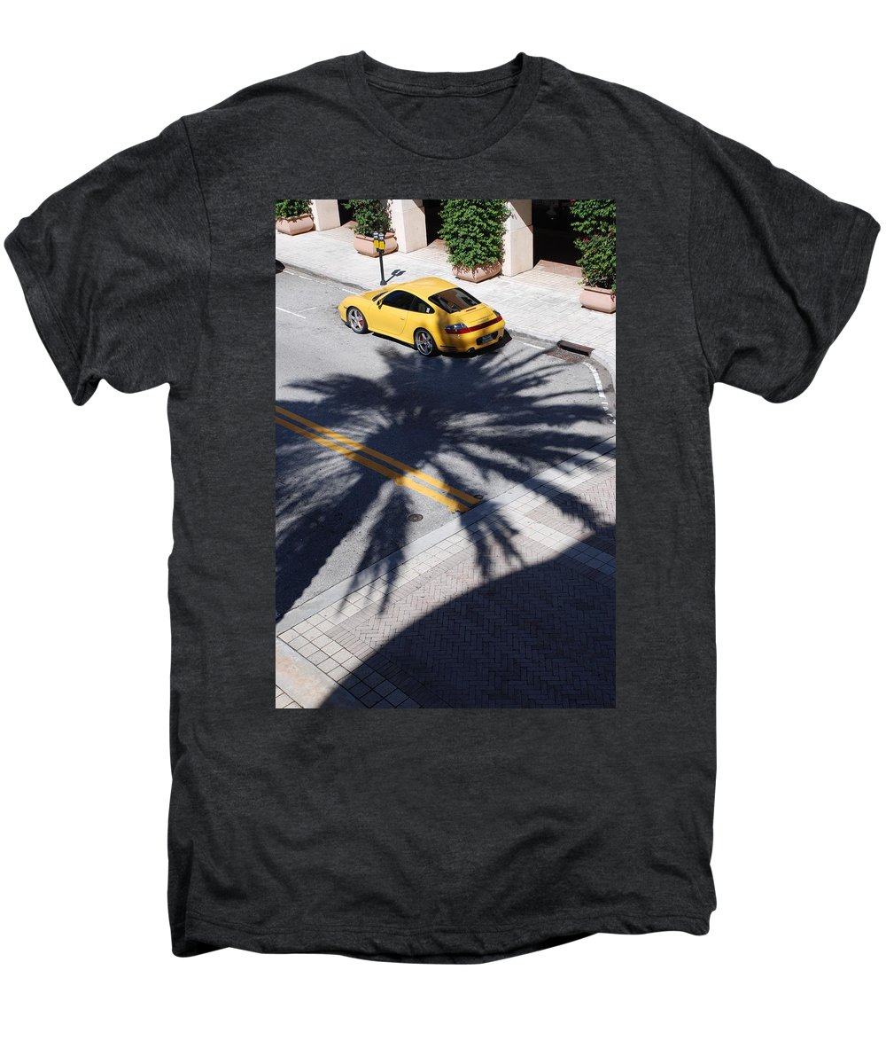 Porsche Men's Premium T-Shirt featuring the photograph Palm Porsche by Rob Hans