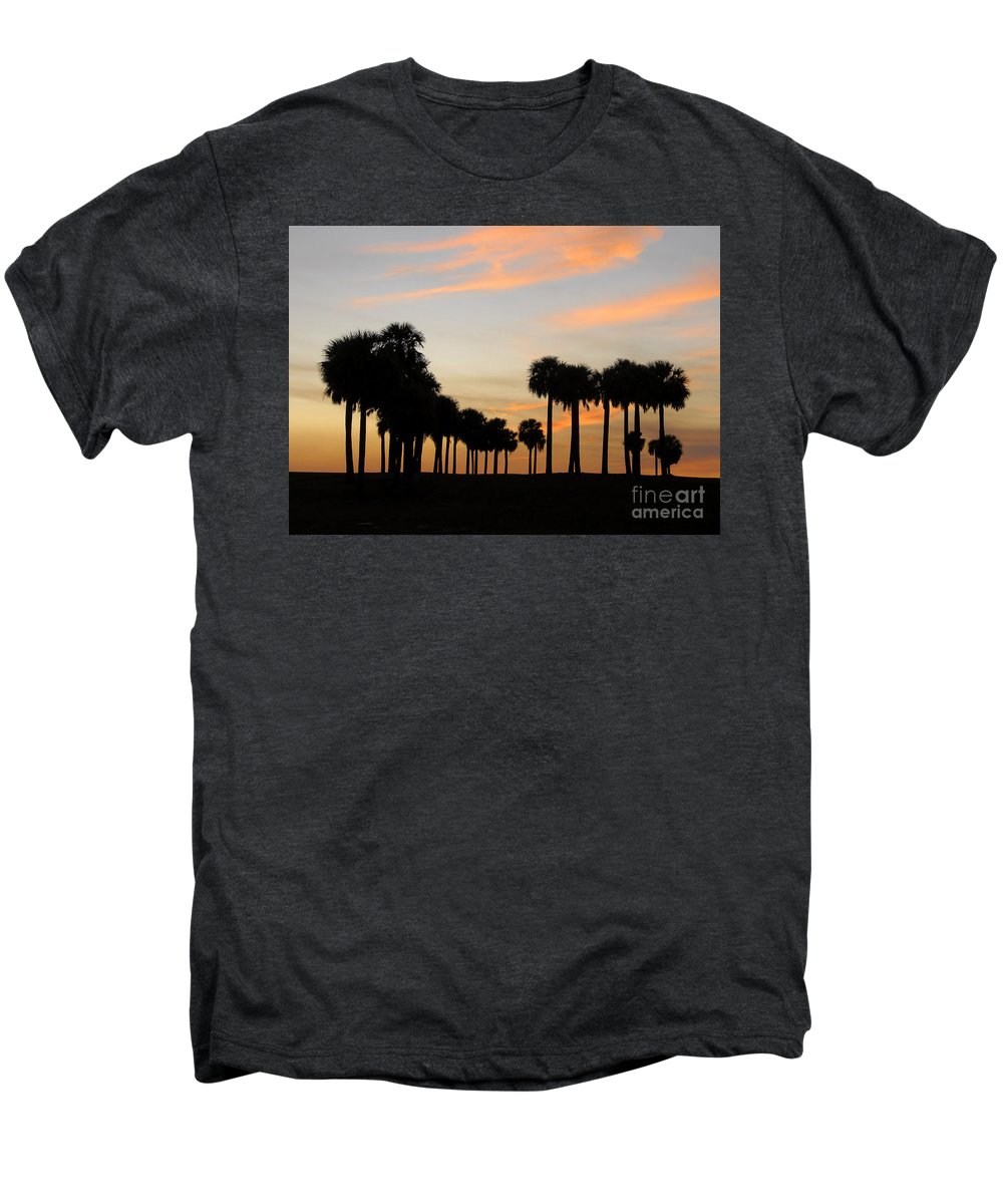 Palm Trees Men's Premium T-Shirt featuring the photograph Palms At Sunset by David Lee Thompson