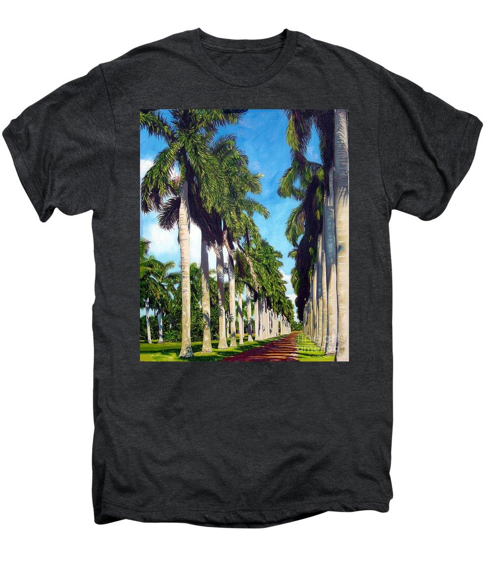 Palms Men's Premium T-Shirt featuring the painting Palms by Jose Manuel Abraham