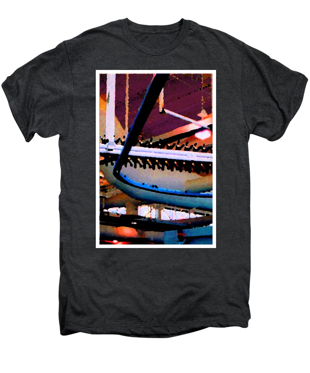 Abstract Men's Premium T-Shirt featuring the photograph Panel Three From Star Factory by Steve Karol