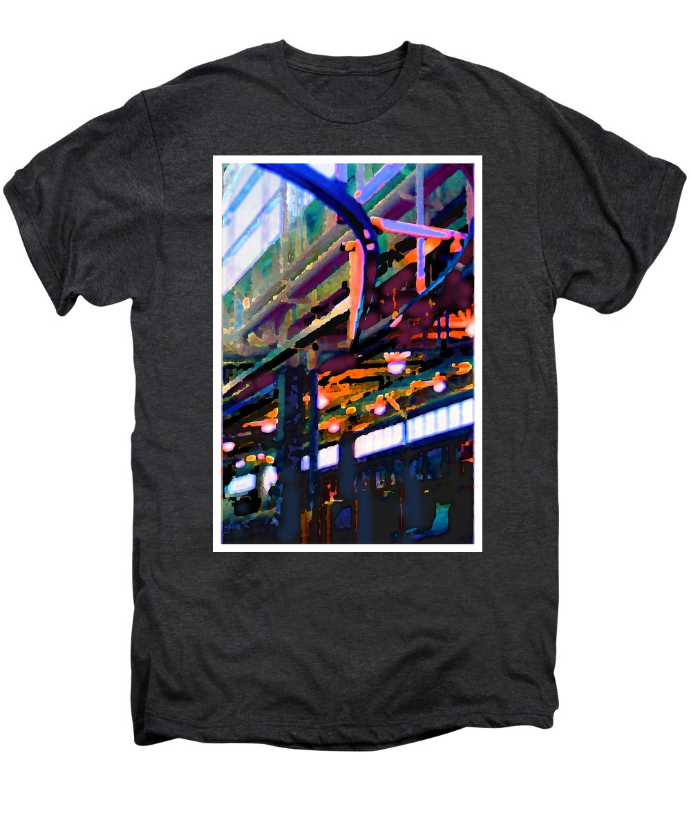 Abstract Men's Premium T-Shirt featuring the photograph panel two from Star Factory by Steve Karol