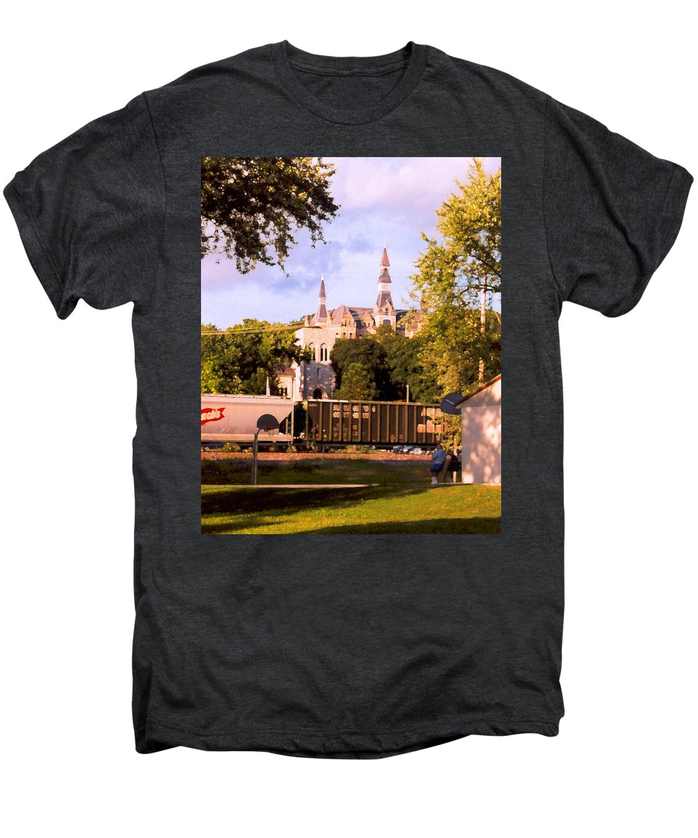 Landscape Men's Premium T-Shirt featuring the photograph Park University by Steve Karol