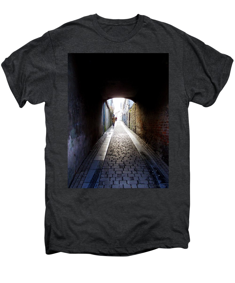 Cooblestone Men's Premium T-Shirt featuring the photograph Passage by Tim Nyberg