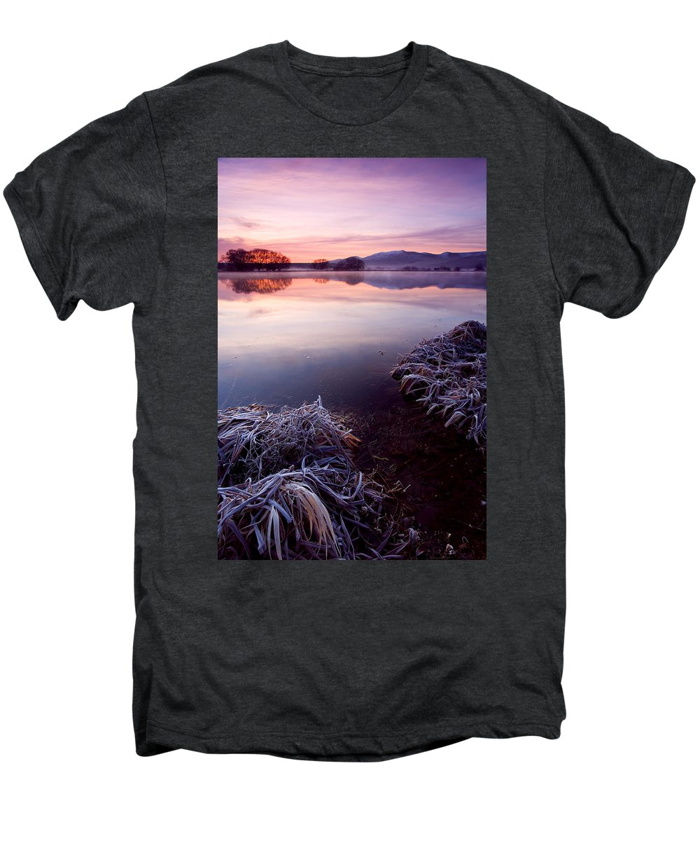 Lake Men's Premium T-Shirt featuring the photograph Pastel Dawn by Mike Dawson