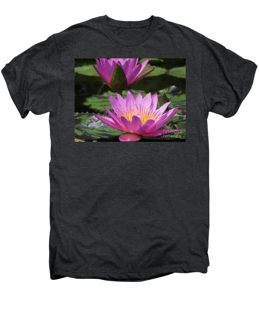Lillypad Men's Premium T-Shirt featuring the photograph Peaceful by Amanda Barcon