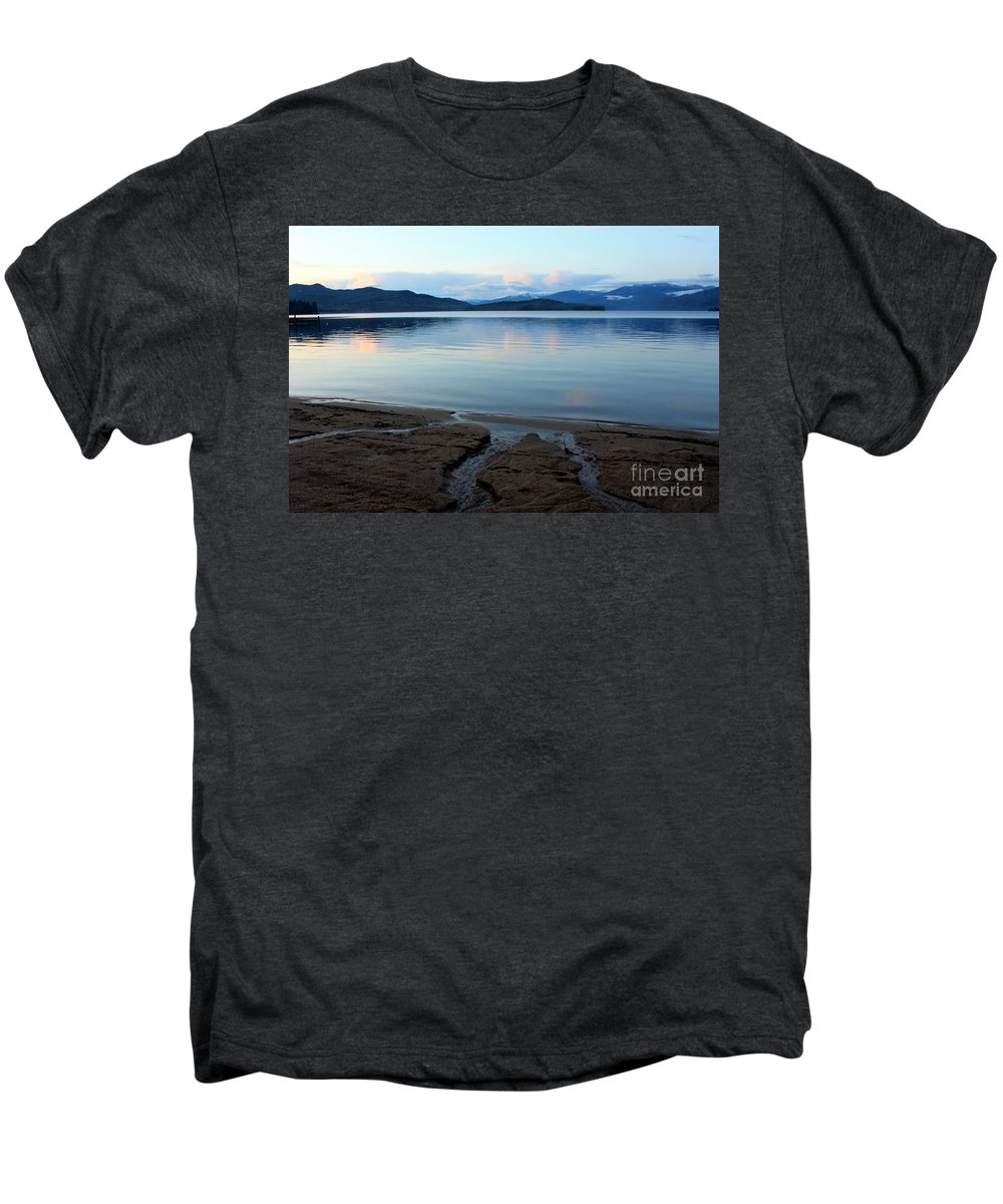 Beach Men's Premium T-Shirt featuring the photograph Peaceful Priest Lake by Carol Groenen