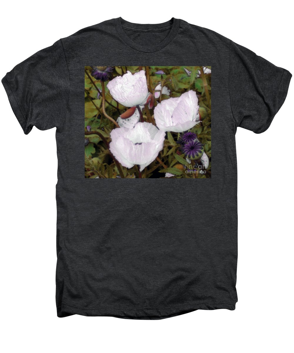 Blooms Men's Premium T-Shirt featuring the digital art Pearlblossoms by RC deWinter