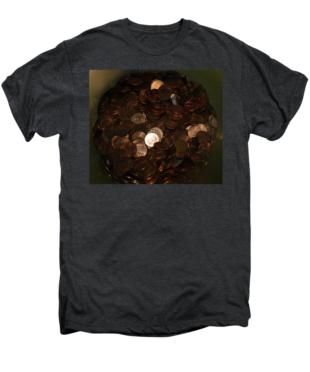 Pennies Men's Premium T-Shirt featuring the photograph Pennies by Rob Hans