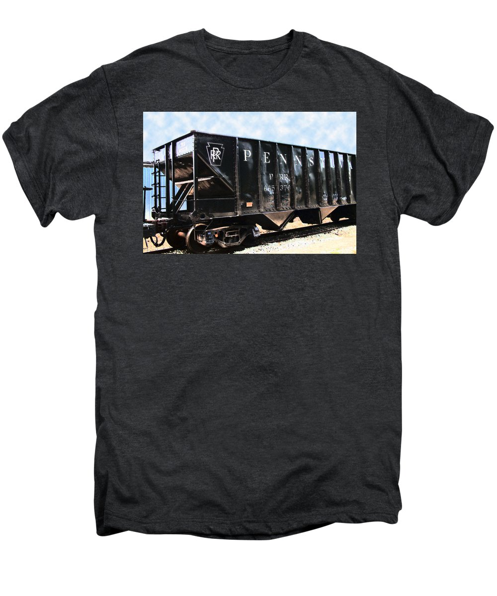 Trains Men's Premium T-Shirt featuring the photograph Pennsylvania Hopper by RC DeWinter