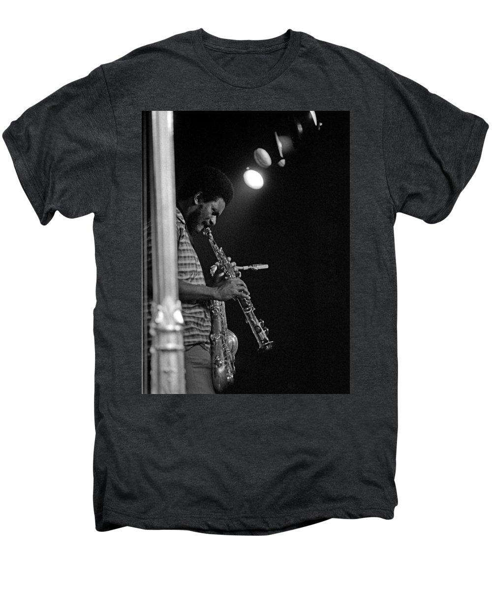 Pharoah Sanders Men's Premium T-Shirt featuring the photograph Pharoah Sanders 1 by Lee Santa