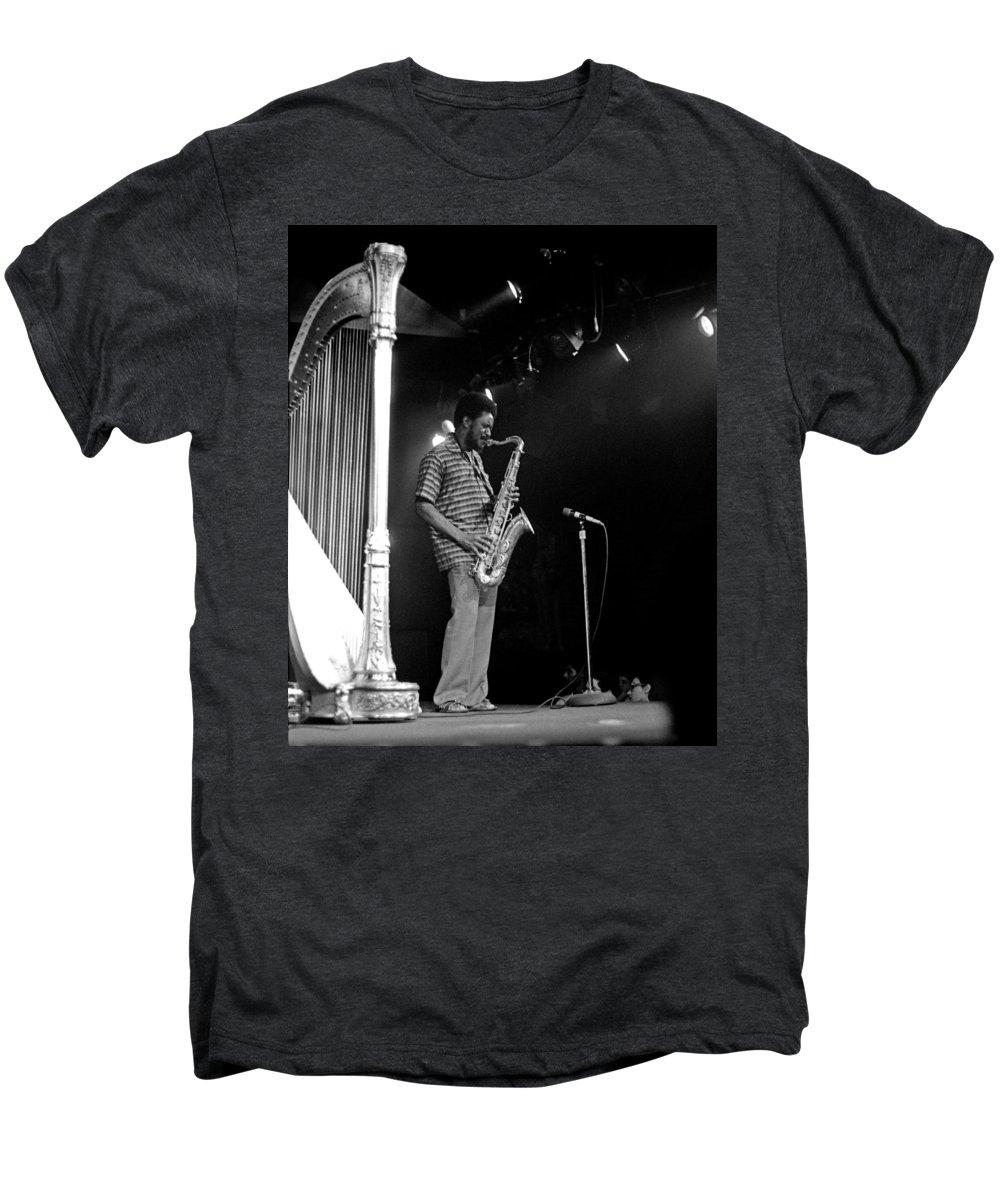 Pharoah Sanders Men's Premium T-Shirt featuring the photograph Pharoah Sanders 5 by Lee Santa
