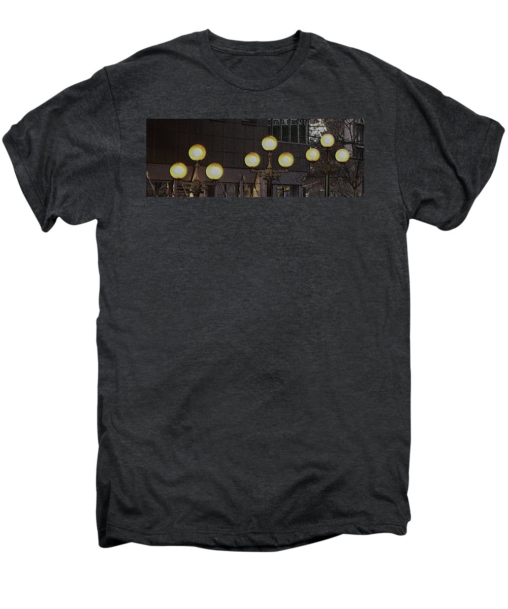 Seattle Men's Premium T-Shirt featuring the digital art Pike Lights by Tim Allen