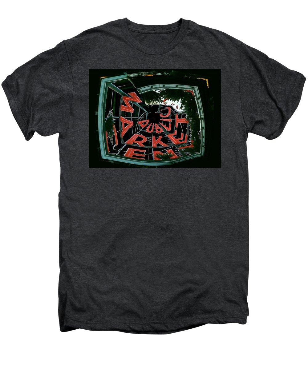 Seattle Men's Premium T-Shirt featuring the digital art Pike Place Market Entrance 2 by Tim Allen