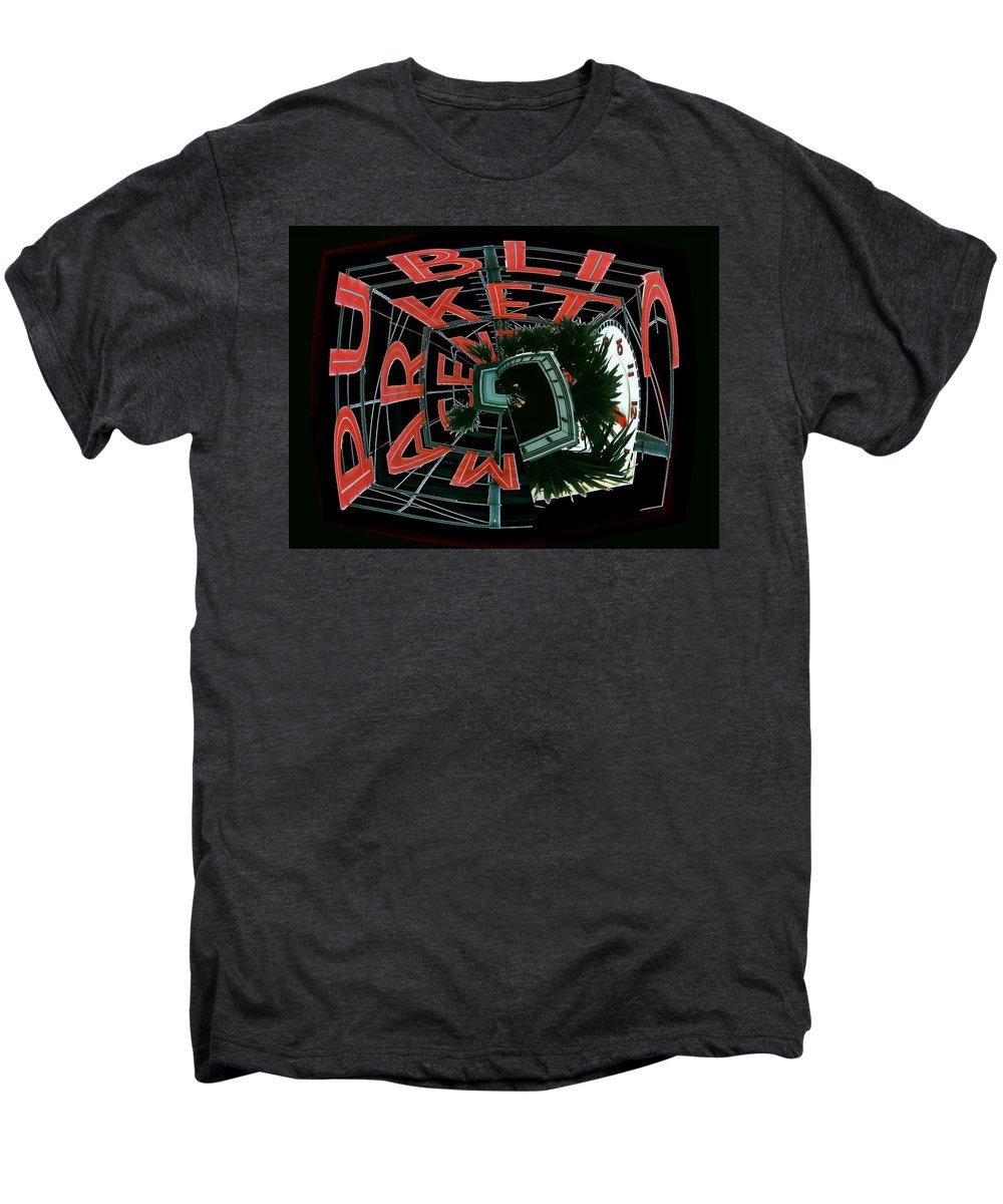 Seattle Men's Premium T-Shirt featuring the digital art Pike Place Market Entrance 3 by Tim Allen