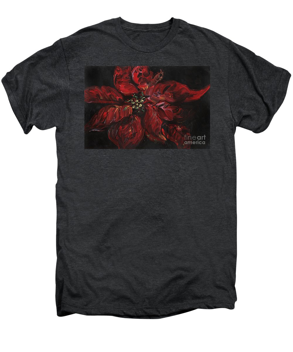 Abstract Men's Premium T-Shirt featuring the painting Poinsettia by Nadine Rippelmeyer