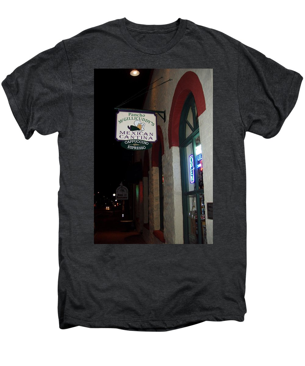 Restaurant Men's Premium T-Shirt featuring the photograph Poncho Mcgillicuddys by Wayne Potrafka