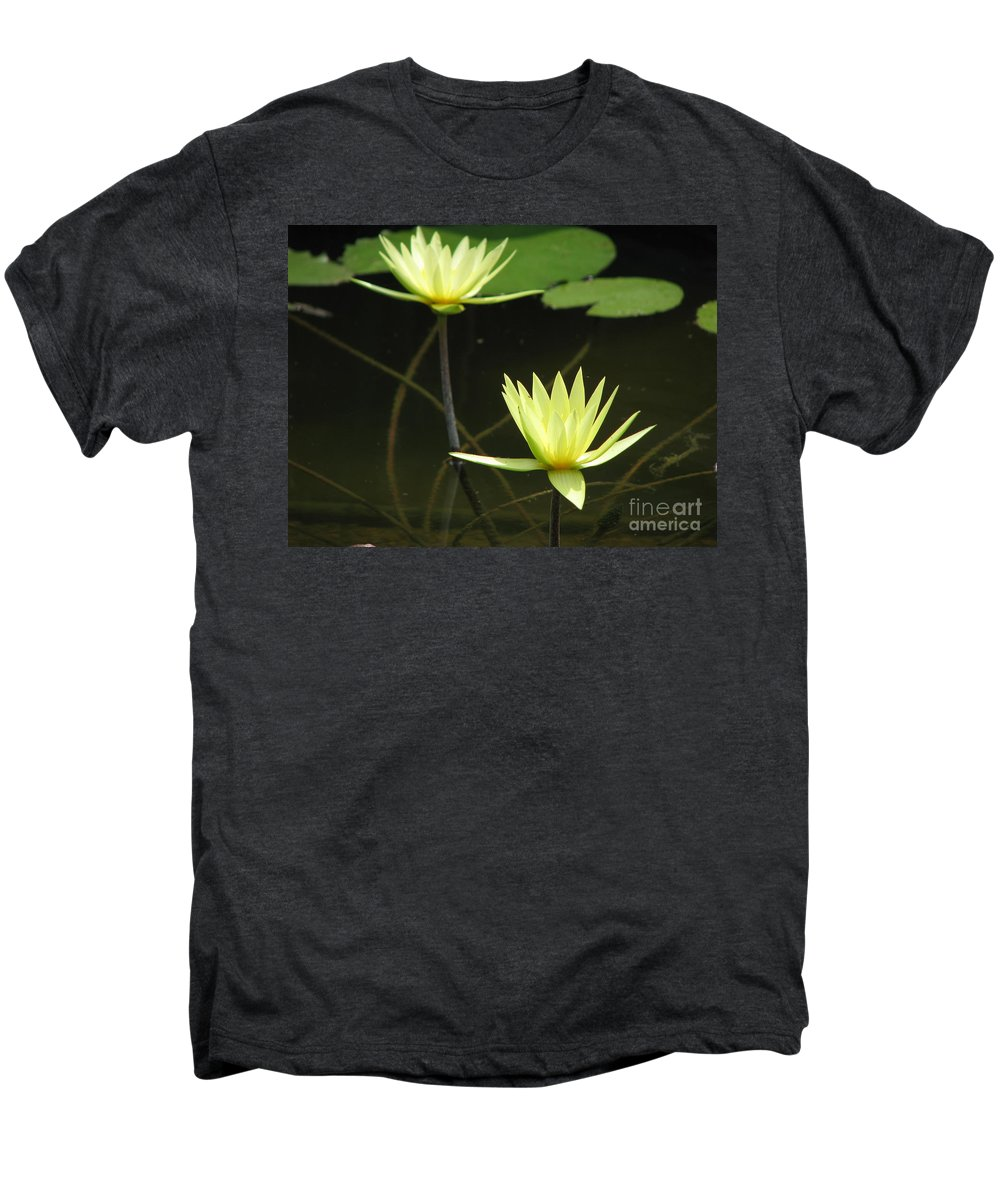 Pond Men's Premium T-Shirt featuring the photograph Pond by Amanda Barcon