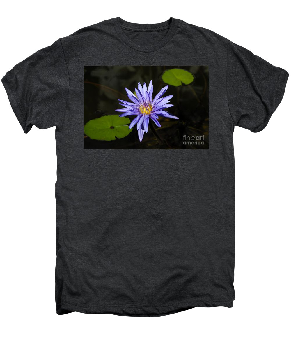 Pond Lily Men's Premium T-Shirt featuring the photograph Pond Lily by David Lee Thompson
