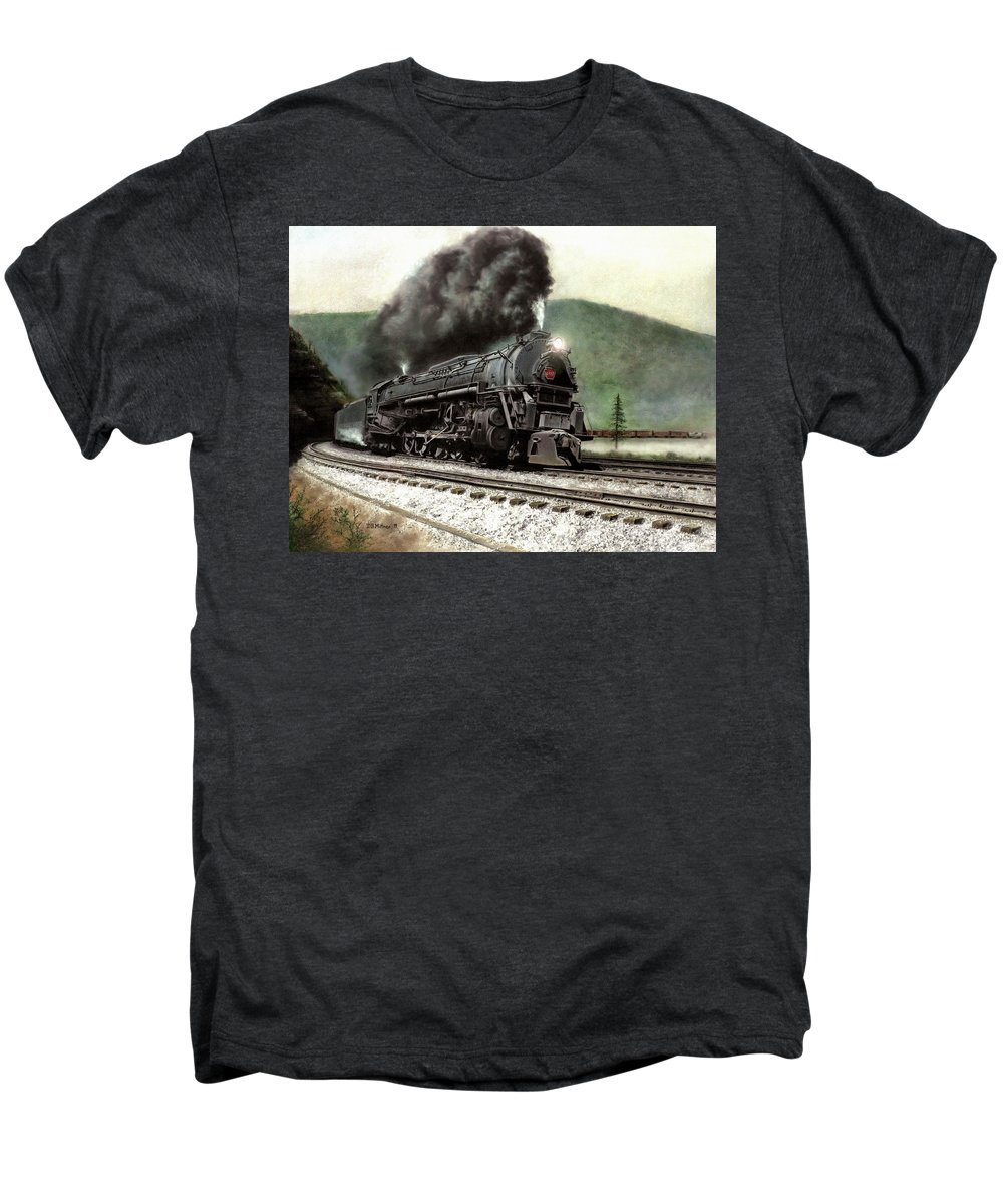 Men's Premium T-Shirt featuring the painting Power On The Curve by David Mittner
