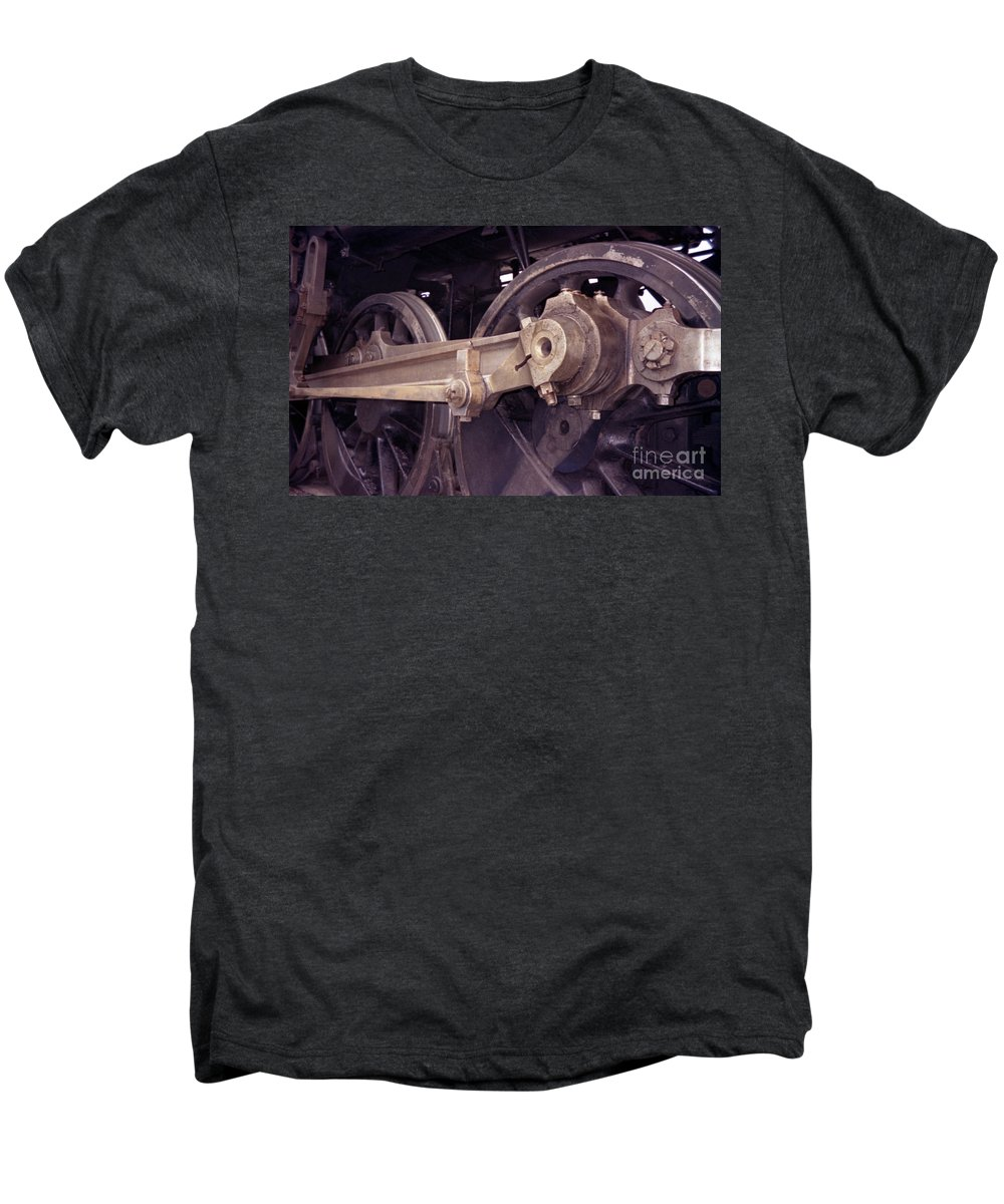 Trains Men's Premium T-Shirt featuring the photograph Power Train by Richard Rizzo