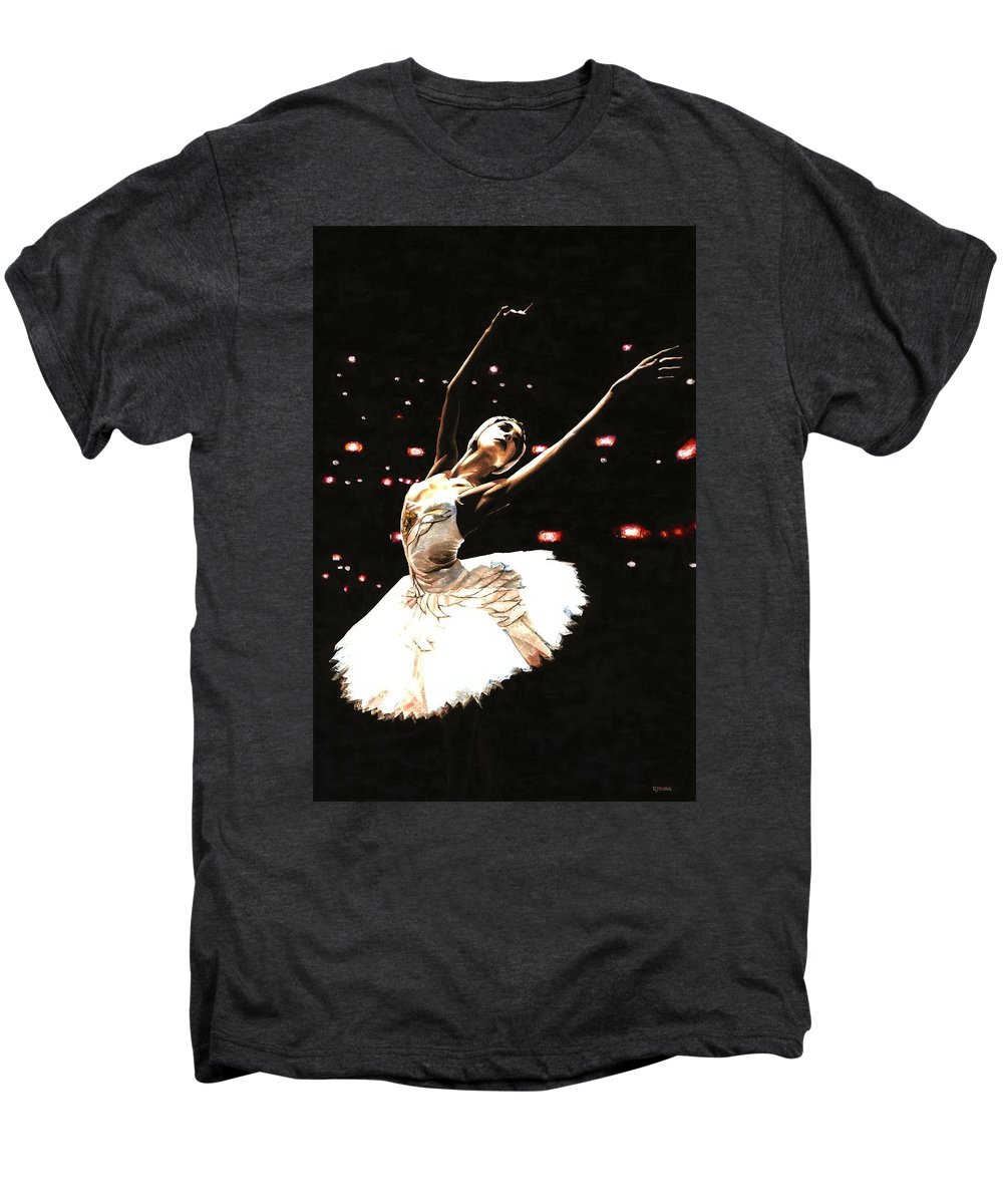 Prima Ballerina Men's Premium T-Shirt featuring the painting Prima Ballerina by Richard Young