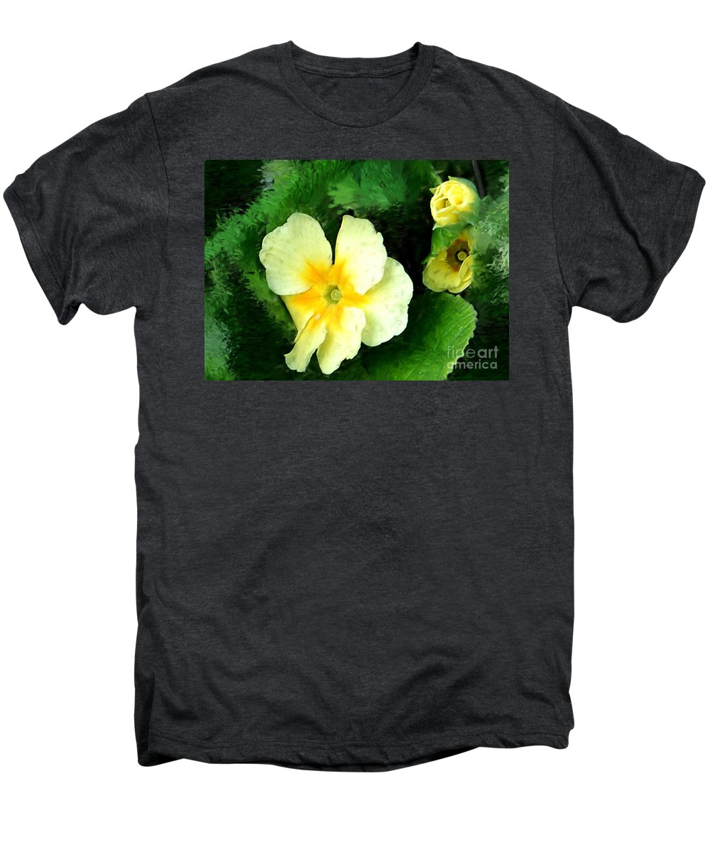 Digital Photograph Men's Premium T-Shirt featuring the photograph Primrose 2 by David Lane