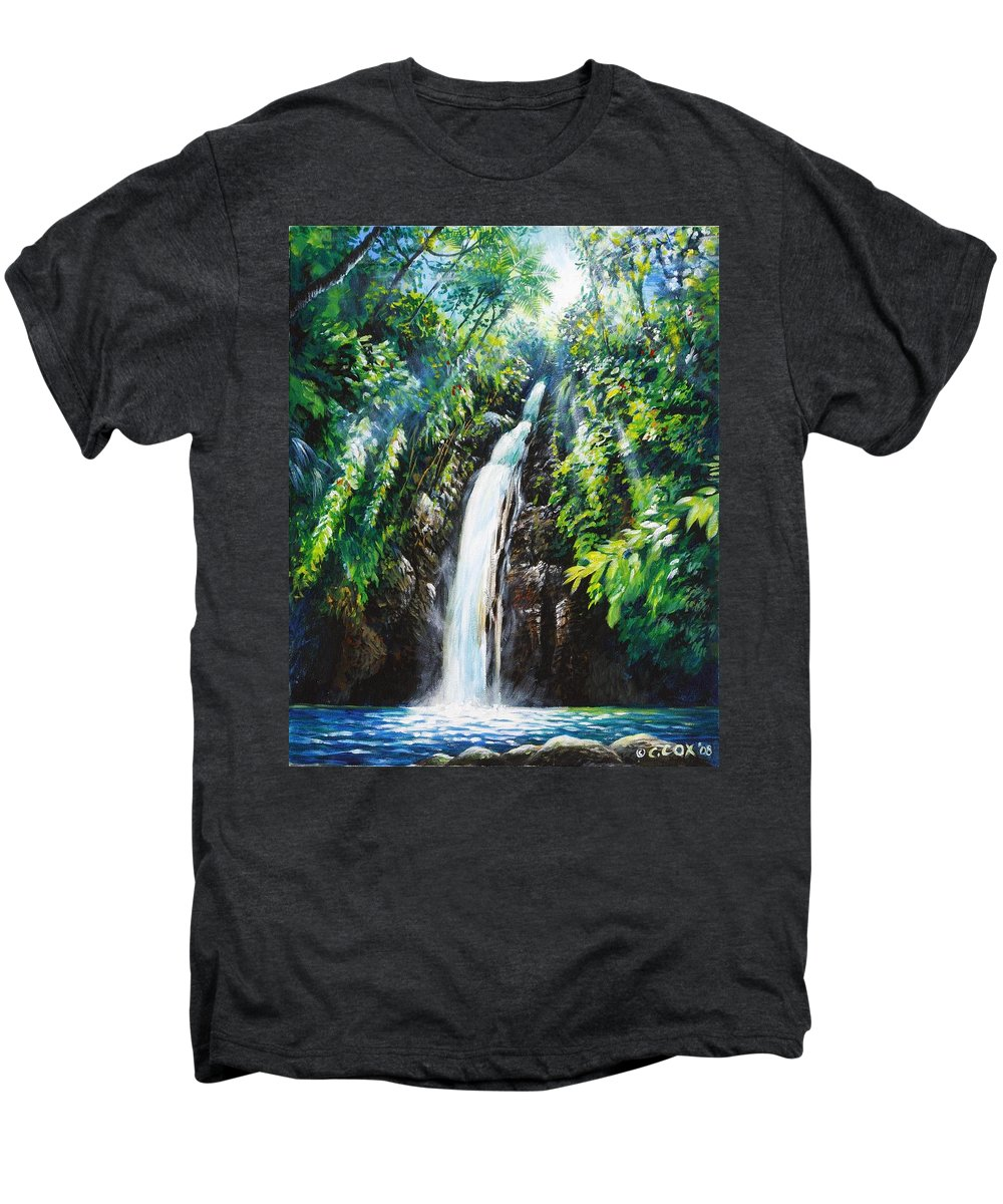 Chris Cox Men's Premium T-Shirt featuring the painting Pristine by Christopher Cox