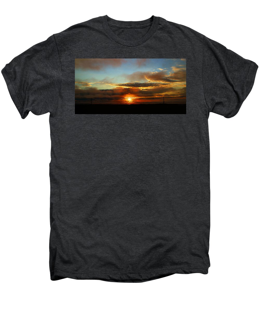 Sunset Men's Premium T-Shirt featuring the photograph Prudhoe Bay Sunset by Anthony Jones