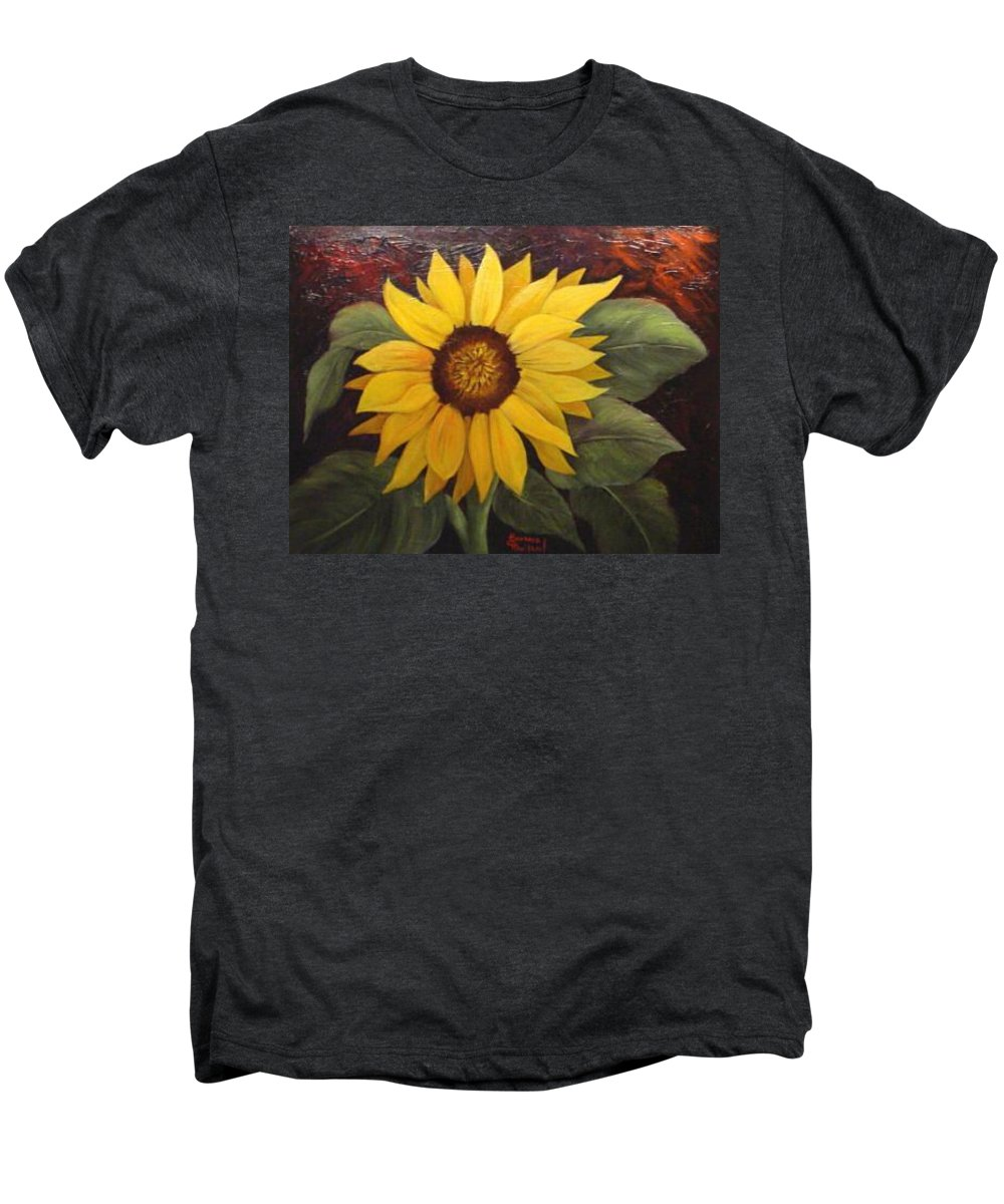 Still Life Men's Premium T-Shirt featuring the painting Pure Sunshine Sold by Susan Dehlinger