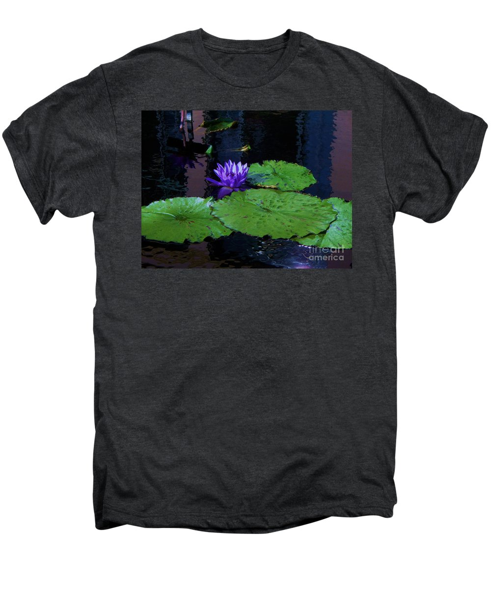 Photograph Men's Premium T-Shirt featuring the photograph Purple Blue Lily by Eric Schiabor