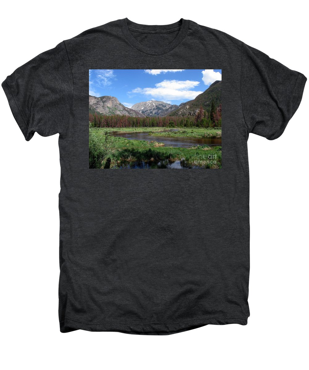 Nature Men's Premium T-Shirt featuring the photograph Quiet by Amanda Barcon