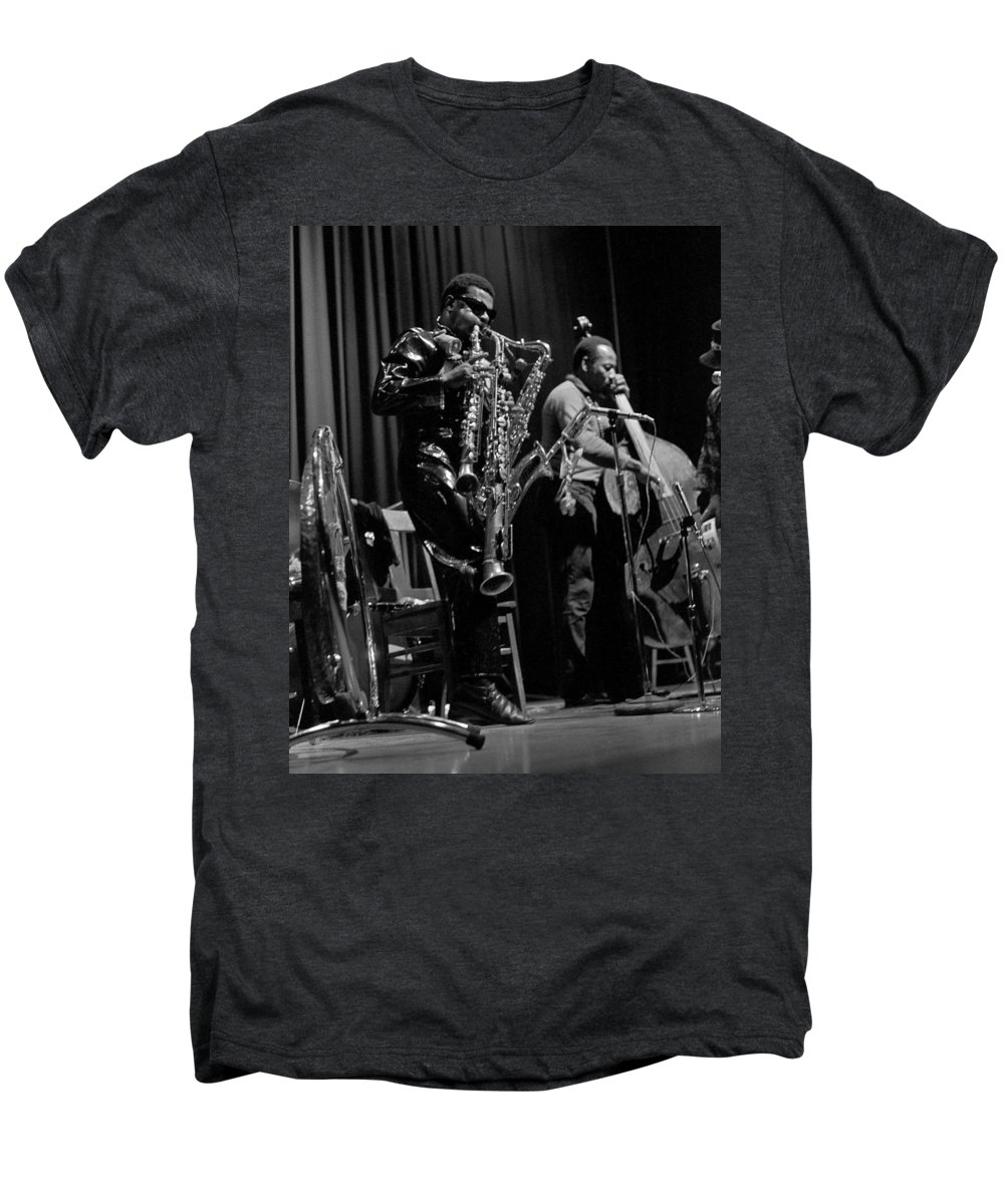 Rahsaan Roland Kirk Men's Premium T-Shirt featuring the photograph Rahsaan Roland Kirk 1 by Lee Santa