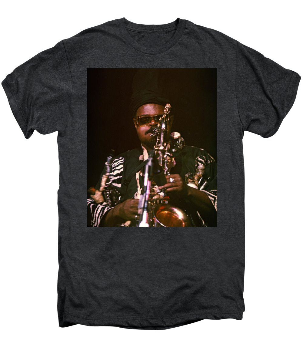Rahsaan Roland Kirk Men's Premium T-Shirt featuring the photograph Rahsaan Roland Kirk 3 by Lee Santa