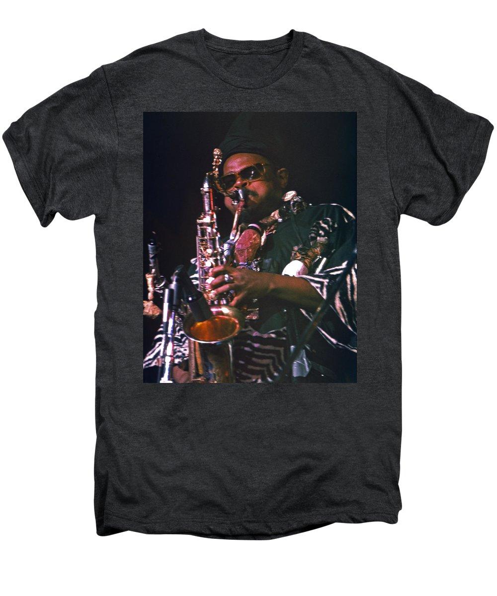 Rahsaan Roland Kirk Men's Premium T-Shirt featuring the photograph Rahsaan Roland Kirk 4 by Lee Santa