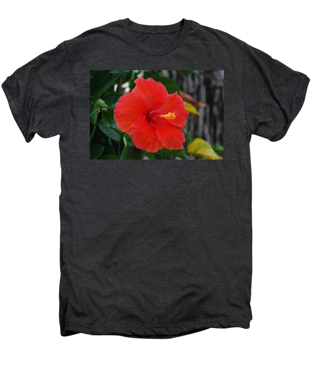 Flowers Men's Premium T-Shirt featuring the photograph Red Flower by Rob Hans