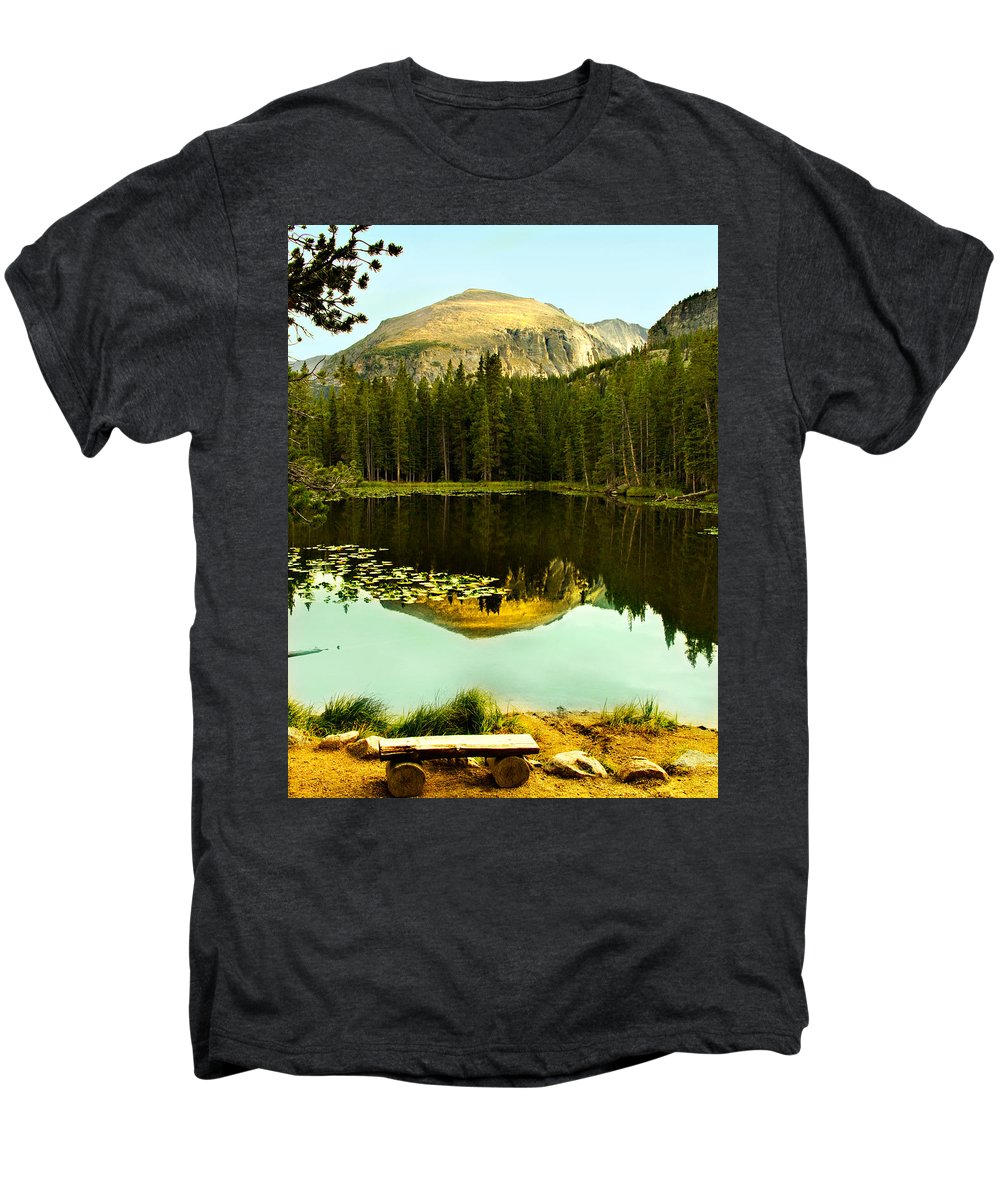 Reflection Men's Premium T-Shirt featuring the photograph Reflection by Marilyn Hunt
