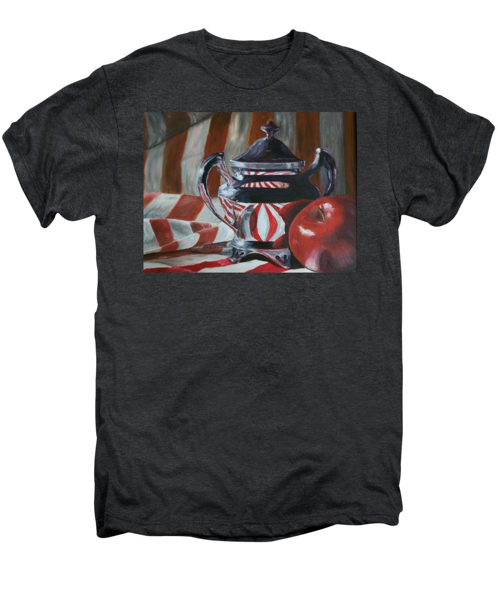 Still Life Men's Premium T-Shirt featuring the painting Reflections by Stephen King